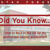 Did you know… that Utah is No. 3 in the US for it geothermal energy production?