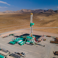 Drilling first deep well announcement